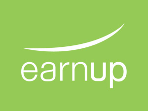 Earnup logo on green background