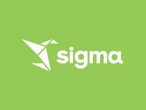 Sigma logo on green background